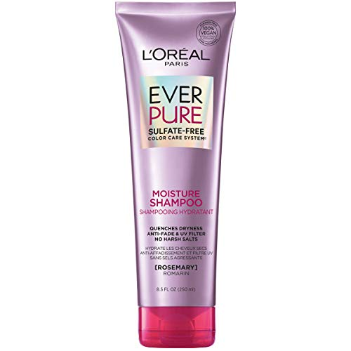 L'Oreal Paris EverPure Moisture Sulfate Free Shampoo for Color-Treated Hair, Rosemary, 8.5 Fl; Oz (Packaging May Vary)