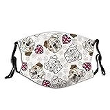 Bandera de corazón bulldog inglés divertida M-A-S-K...