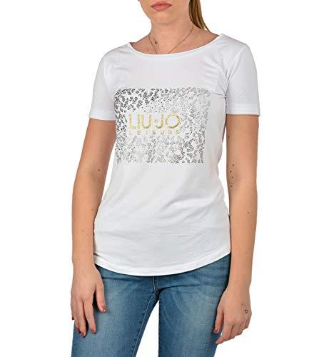 Liu Jo - Camiseta deportiva para mujer, color blanco blanco S