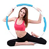 HebyTinco Hula Hoop Fitness, Desmontable, Fitness Hula Hoop para la pérdida de Peso y Masaje, Neumáticos de Espuma Ajustables Hula Hoop (Azul)