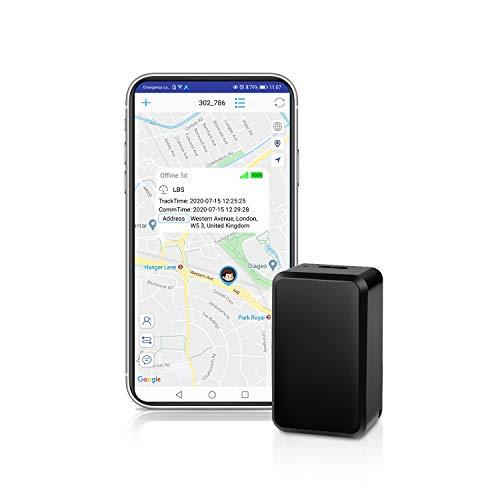 QZT Mini Localizzatore GPS, Piccolo Portatile con Localizzatore di Monitoraggio in Tempo Reale...
