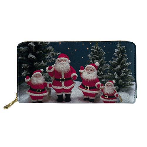 Coloranimal Frohe Weihnachten weihnachtsmann weihnachtsbäume Muster Lange brieftaschen für Frauen Damen Outdoor Handtasche case kreditkarteninhaber reißverschluss um