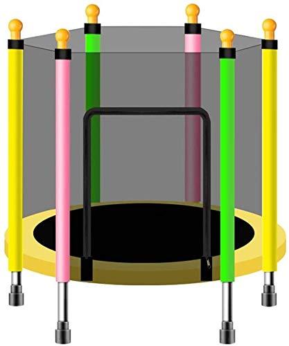 ZCXBHD Kids Indoor Ronde Trampoline, Voor Kinderen Binnen En Buiten Kleine Trampoline, Met Behuizing Net En Veiligheidspad, 55 inch