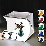 Faltbare Foto Studio Zelt,Leuchtkasten für Fotografie mit LED Licht Mini Fotografie Studio Kit...
