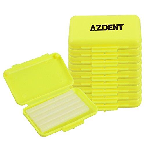 azdent Kiefergerechte Halterung Displayschutzfolie Dental Wax Strips für Hosenträger Träger (10Boxen enthalten) Gelb zitronengelb