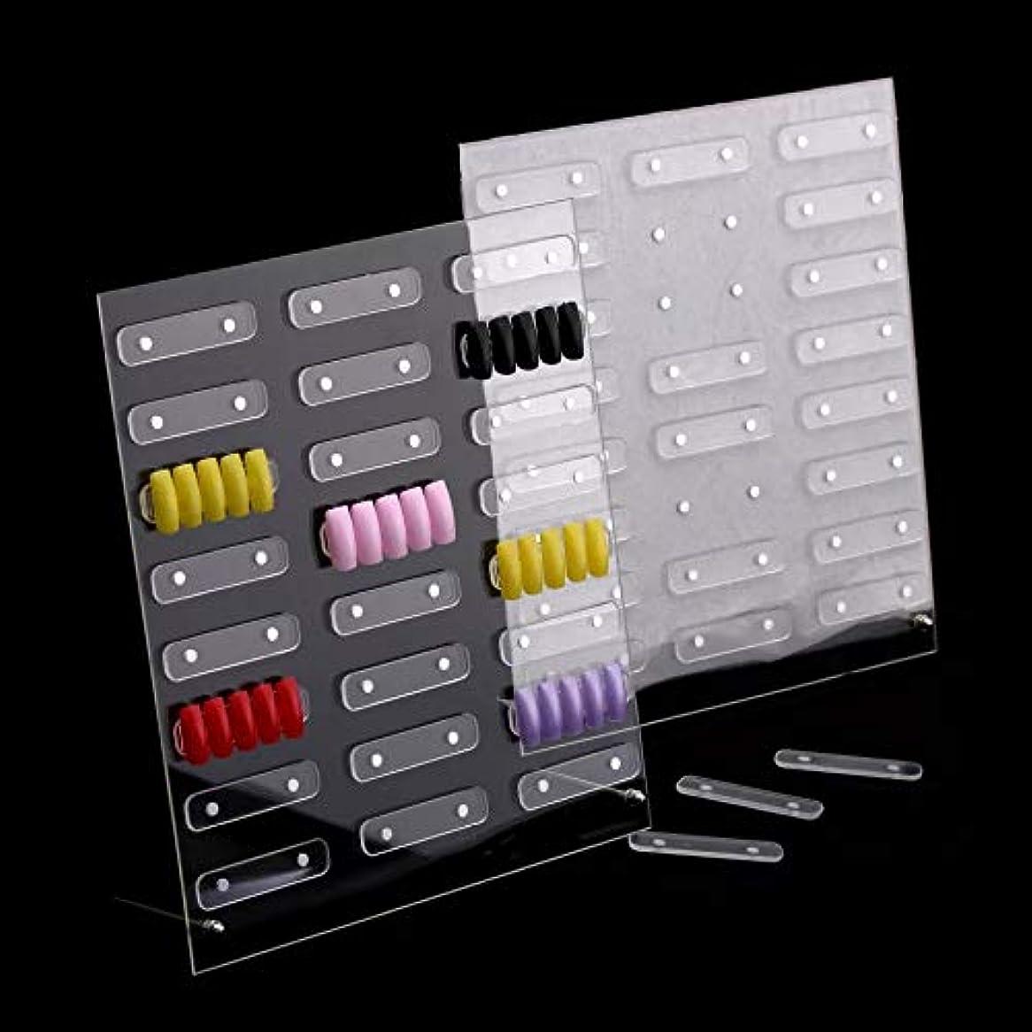 卒業ディレイ代わりにを立てる磁石付きネイルサンプルディスプレイボード展示板 大容量24セット設置可能 見本ボード サンプルチップ貼り付け板 入れ替え取り外し簡単ラクラク! (大 (32ピース))