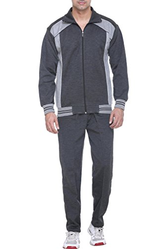 Warm Up - Men's Polyester Track Suit (D.Grey - M Size)