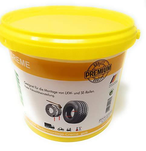 DWT-Germany Pasta para montaje de neumáticos Performance 101298, 5 kg, pasta de montaje para neumáticos, color amarillo