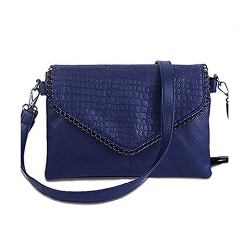 Jecxep Lady Fashion Piccolo Sacchetto del Messaggero Delle Donne Borse in Pelle Morbida PU Crossbody Bag (Blu)