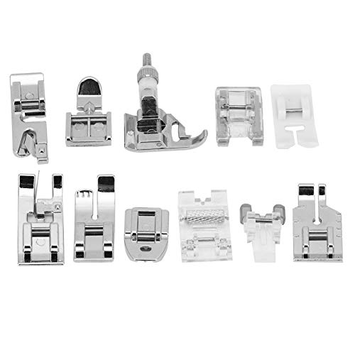 Prensatelas para máquina de coser multiusos de PVC, prensatelas para máquina de coser de aleación de zinc, compatible con Elina Singer Compatible con Brother