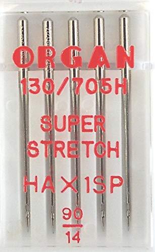 Organ Nähmaschinennadeln Super Stretch 90er 130/705 H