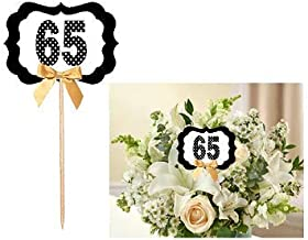 65th Birthday/Anniversary Table Decoration Party Centerpiece Pick - Set of 6