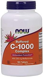 Now Foods Vitamina C-1000 Complex - tamponado con 250 mg Bioflavonoides - 180 tabs 180 Unidades 440 g
