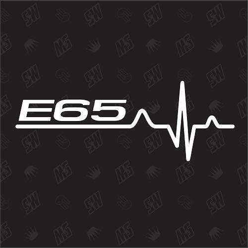 speedwerk-motorwear E65 hartslagsticker voor BMW, tuning fan sticker