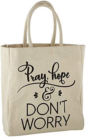 Autom Tote Bag - Pray Hope Don't Wory (Pack of 1)