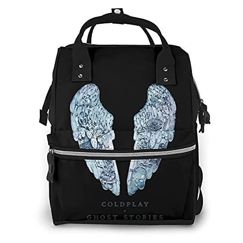 Rononand Mochilas tipo casual Mochila multifunción grande impermeable para mamá y papá, mochila de viaje exterior para el cuidado del bebé Coldplay Ghost Stories