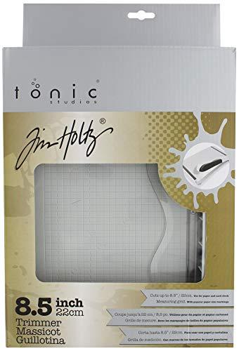 Tonic–Guillotina Comodidad Cortadora de Papel 8.5-Inch by Tim Holtz, Color Gris y Rojo