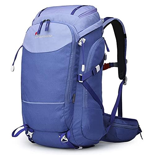 Zaino da Hiking 40L, Zaino da Trekking Impermeabile E Leggero Zaino Sportivo Zaino da Escursioni per Arrampicata Viaggio Campeggio (Color : Purple, Size : One Size)