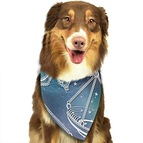 Sitear Weegschaal Vintage Horoscoop Constellatie Sterren Hond Kat Bandana Driehoek Bibs Sjaal Huisdier Kerndoek Set Voor Kleine Tot Grote Hond Katten
