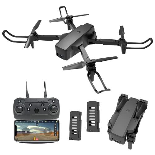 Drone con Telecamera Professionale 4K HD, IDEA18+ Quadricottero WiFi con Tecnologia Flusso Ottico,Controllo dei Gesti, Mini FPV Drone Adatto ai Principianti e Bambini, 2 batterie