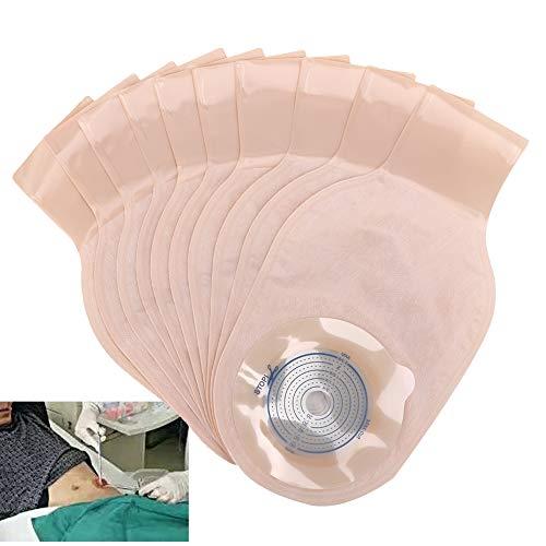 Bolsa de colostomía desechable de 10 piezas Bolsas drenables Bolsa de bolsa de ostomía suave para la piel Bolsa de ostomía con cierre para colostomía Ileostomía Cuidado del estoma Tipo abierto