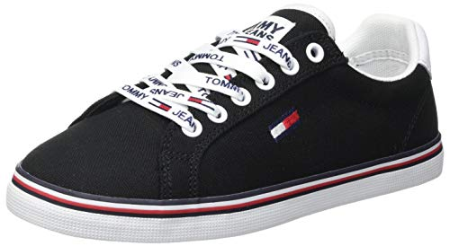 Tommy Hilfiger Damen Essential Lace Up Sneaker, Black, 40 EU