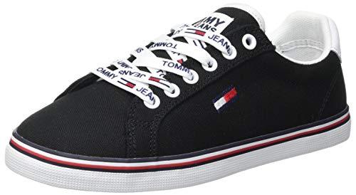 Tommy Hilfiger Damen Essential Lace Up Sneaker, Black, 38 EU