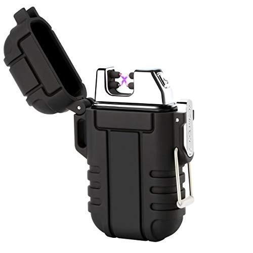Qimaoo Mechero Electrico Recargable, Encendedor Electrico USB de Doble Arco Mechero Impermeable...