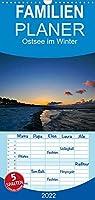 Ostsee im Winter - Familienplaner hoch (Wandkalender 2022 , 21 cm x 45 cm, hoch): Fotografien der Ostsee im Winter (Monatskalender, 14 Seiten )