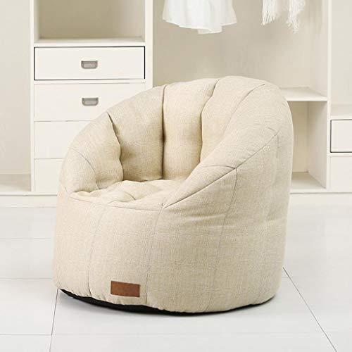 M-JH Sitzsack für Erwachsene, groß, extragroß, für Wohnzimmer, Gamer, Outdoor-Garten, Sitzsack, Liege, Sessel, 75 x 75 cm weiß