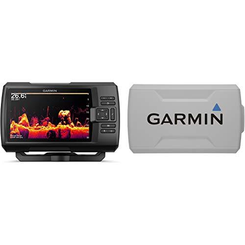 Garmin Striker Vivid 7cv Bundle with Transducer and Protective Cover, 7-inch Color Fishfinder, Vivid Scanning Sonar Color Palettes 010-02552-00