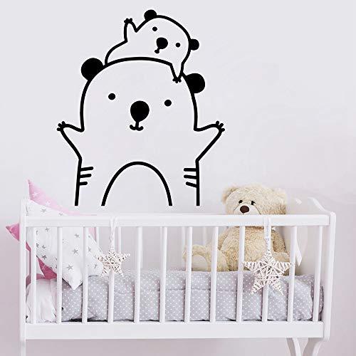 Adhesivos de pared de animales lindos vinilo infantil para habitación decoración extraíble decoración para habitación infantil papel pintado mural |adhesivos de pared57x55cm