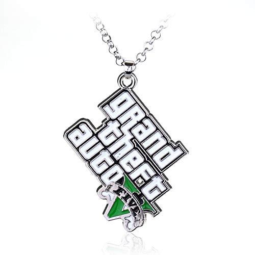 WYFLL Europäische Und Amerikanische Heiß Verkaufte Personalisierte Accessoires Schmuck Grand Theft Auto Brief Halskette Online-Spiele Peripherie Schmuck Halskette Anhänger