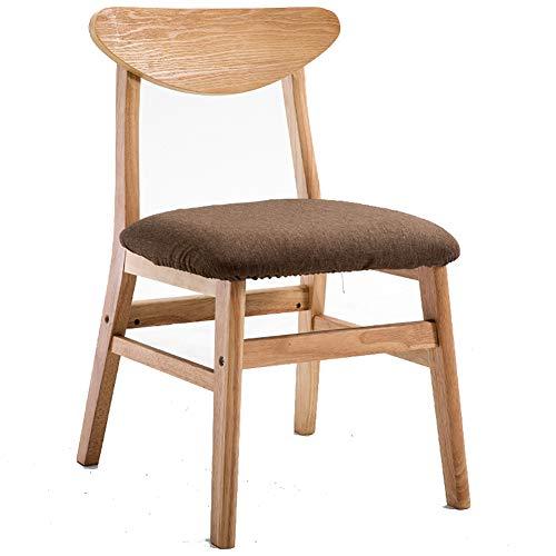 LYHD Chaise de Salle à Manger en Bois Massif, Chaise de café à la Maison Minimaliste Moderne, Chaise de Salon, adaptée au Restaurant/Bureau/comptoir/Famille, Conception Ergonomique
