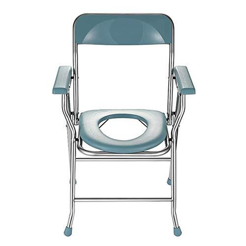 N / A - Silla de inodoro plegable para dormitorio con reposabrazos y orinal para personas mayores con movilidad reducida