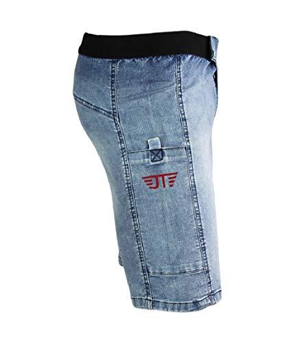 Jeanstrack Montblanc Jeans Pantalón de Trail Running, Unisex Adulto, Sky, L