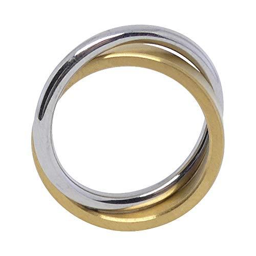 Heideman Ring Damen Duplex Gold aus Edelstahl Gold farbend matt Damenring für Frauen