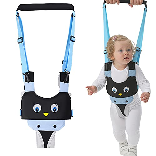 Baby Walking Harness, Handheld Toddler Walker Helper, Adjustable Infant Walking Assistant with Detachable Crotch, Kids Learning Walk Support Assist Trainer Tool for 8-24 Months Old