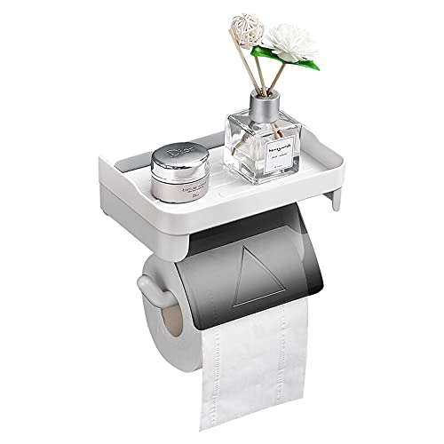 Sxcespp Soporte de papel higiénico autoadhesivo, estante impermeable montado en la pared, adecuado para rollos de papel huecos, instalación sin perforaciones y sin daños en la pared, soporte de toalla