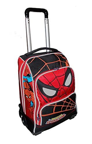 Franco Cosimo Panini Editore - Spiderman Zaino Trolley Grande Scolastico Organizzato (Rosso)