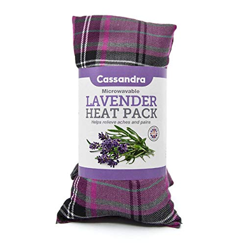 Cassandra Cotton Tartan Wheat and Lavender Filled Heat and Cool Pack. 42cm