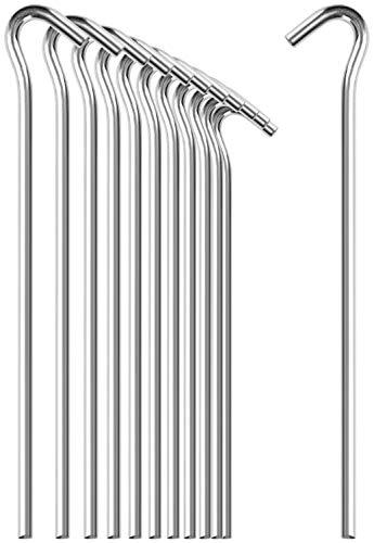 com-four® 12x Zelt-Heringe aus Stahl - extra Dicke Erdnägel für Camping und Outdoor - ideal für normalen und harten Boden