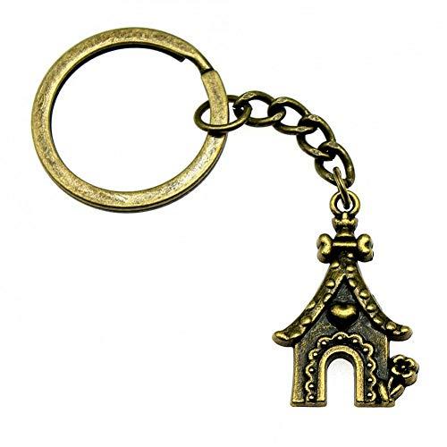TAOZIAA sleutelhanger auto sleutel hondenhok DIY sieraden maken cadeau voor jaar 31x20mm hanger antieke brons