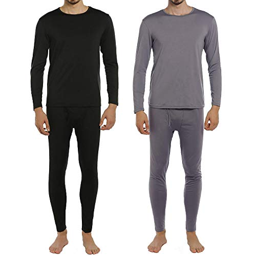 ViCherub Men's Thermal Underwear Set Fleece Lined Long Johns Winter Base Layer Top & Bottom 2 Sets for Men