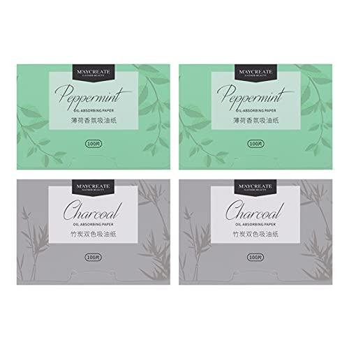 FOMIYES Lot de 4 boîtes de papier buvard pour soins du visage