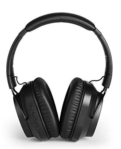 Meliconi Mysound Speak Quiet, Cuffia Bluetooth 5.0 con Microfono e Active Noise Cancelling (Anc), Elimina i Rumori di Fondo. Nero