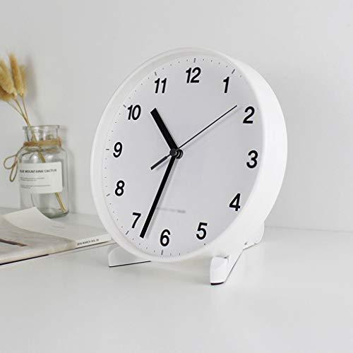 Tingting1992 Reloj de Mesa Reloj de Pared de Barrido sin tictac Diámetro de 20 cm (números árabes) Reloj de Mesa de Escritorio (Color : B)