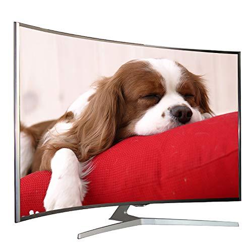 TV con WiFi de Panel Curvo 4K, TV LCD LED Inteligente Adecuada para la Oficina de la Sala de reuniones Familiar 32/42/46/55/60 Pulgadas