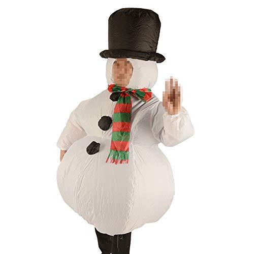 SSBH Schneemann Aufblasbare Kleidung, Halloween Cosplay Weihnachten Karneval Eltern-Kind Performance Party Kostüm Erwachsene Cosplay Cartoon Performance Prop Kleidung, 50CM-190CM