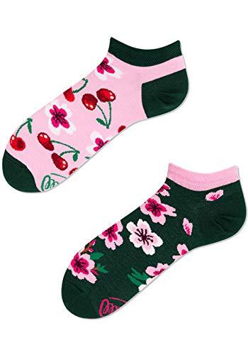 Many Mornings Socken Low unisex Sneakersocken Knöchelsocken Cherry Blossom (39-42 CH)